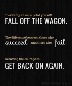 Falling-off-the-wagon